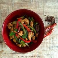 Szechuan roerbak met kip
