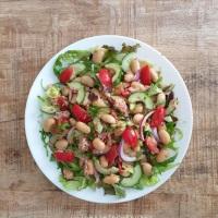 Tonijnsalade met limabonen